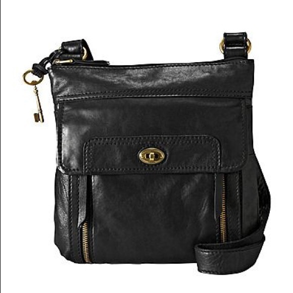 17243c8ee4 Fossil Handbags - Fossil Morgan Traveller Bag - black leather